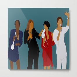 Living Single Metal Print