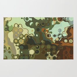 RETRO Mid Century Modern Abstract Pattern Geometric Art by Michel Keck Rug