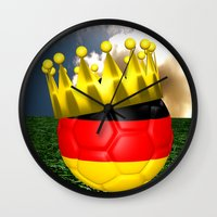 world cup Wall Clocks featuring World Cup Champion 2014 by Littlebell