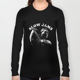 Sloth Playing Guitar Slow Jams Vintage Graphic sloth T-Shirts Long Sleeve T-shirt