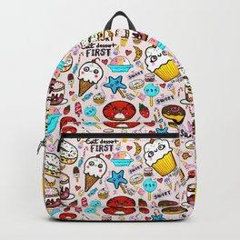 Life is short, eat dessert first. Backpack