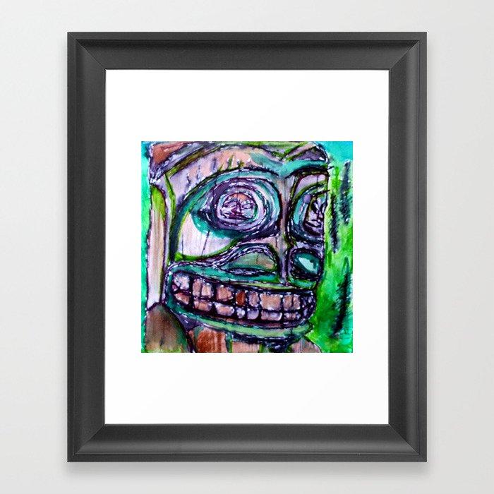 Sacred New Aiyansh, Nisga'a Totem Framed Art Print