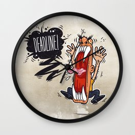 Angry Boss Screaming Deadline Wall Clock