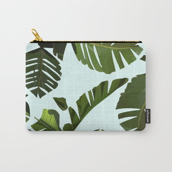 Palm Pattern Carry-All Pouch