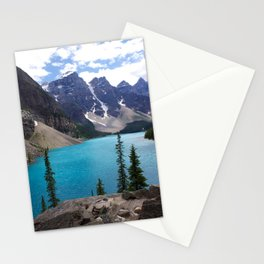 Moraine Lake Upper trail view Stationery Cards