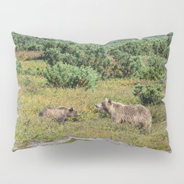 Kamchatka brown bears (mother and cub) Pillow Sham