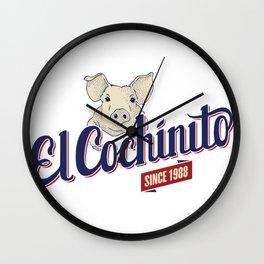 El Cochinito Orginal Wall Clock