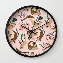 Otter Collection - Blush Palette Wall Clock