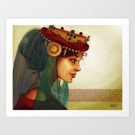 Sibylla, Queen of Jerusalem Art Print