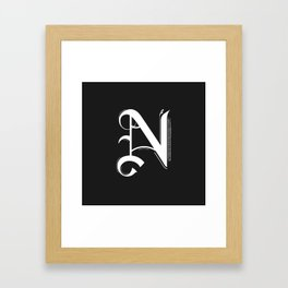 Letter N Framed Art Print