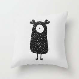 Polka Dotted Monster Throw Pillow