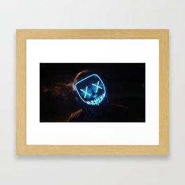 blue mask Framed Art Print