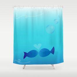 Lucky Little Fish Shower Curtain