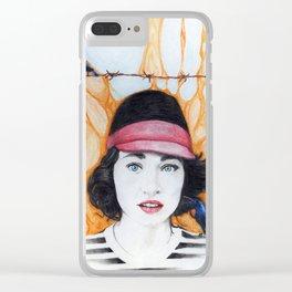 Purple Sunbird Clear iPhone Case