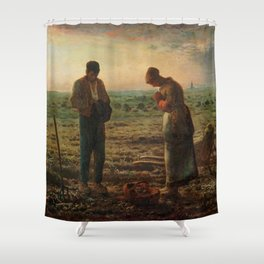 The Angelus Jean Francois Millet Shower Curtain