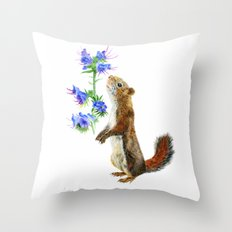 Take Time To Smell The Flowers by Teresa Thompson Throw Pillow