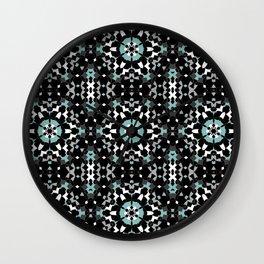 Black, blue, ornament Wall Clock
