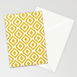 Mid Century Modern Diamond Ogee Pattern 122 Mustard Yellow Stationery Cards