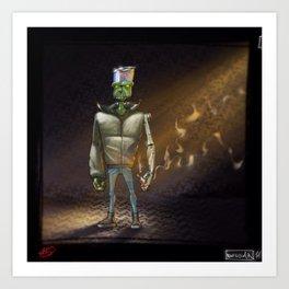 FrankenBoy... Blurred... Art Print