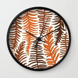 Groovy Palm Earth Wall Clock