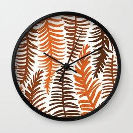 Groovy Palm Earth Wall Clock
