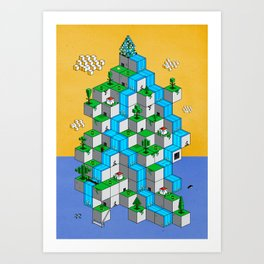 Ecubesystem Art Print