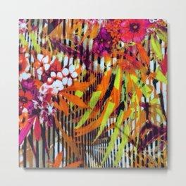 Abstract Flowers #society6 #decor #buyart Metal Print