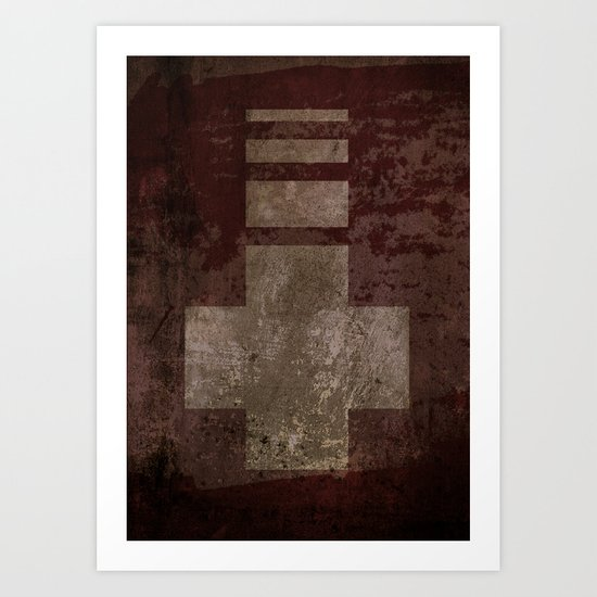 Downward Cross  Art Print