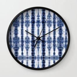 Tiki Shibori Blue Wall Clock