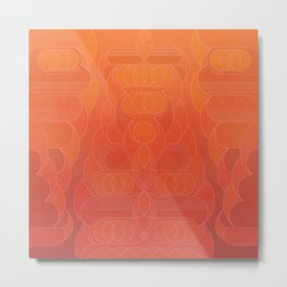 Round and About Coral Metal Print
