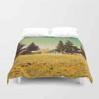 breathe Duvet Covers featuring Breathe by ARTbyJWP