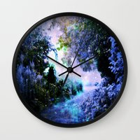 fantasy Wall Clocks featuring fantasy garden Periwinkle by 2sweet4words Designs
