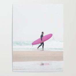 surfing beach vibes Poster