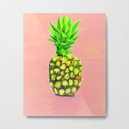 Pineapple Welcome! Metal Print