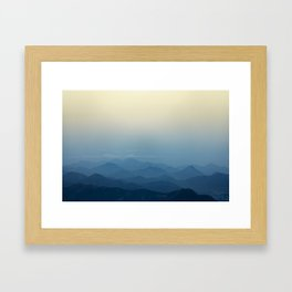 Calming Mountains in Rio de Janeiro, Brazil Framed Art Print