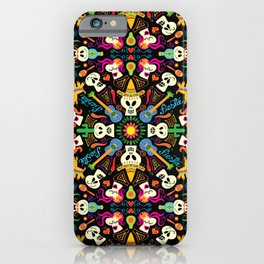 Mischievous Mexican skeletons celebrating the Day of the Dead iPhone Case