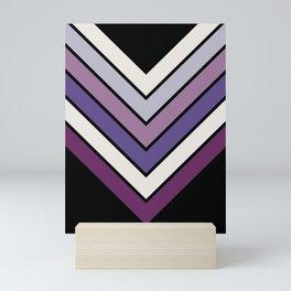 Purple Night Bloom Chevron Mini Art Print