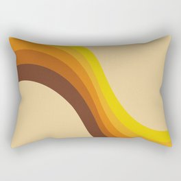 70s Color Palette Rectangular Pillow