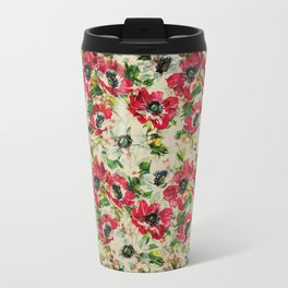 Vintage flowers background Travel Mug