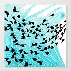 bird wrap Canvas Print