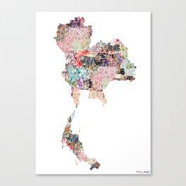 Thailand map Canvas Print