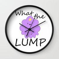 lumpy space princess Wall Clocks featuring Kawaii Lumpy Space Princess by AstralWisp