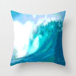 poster paint wave modern home design Throw Pillow