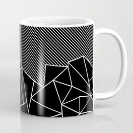 Ab Lines 45 Black Coffee Mug