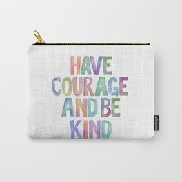 Typography Quote, Motivational Poster, Wall Decor, digital download, Nursery Decor,Have Courage Carry-All Pouch