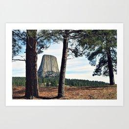 Devil's Tower, Wyoming Art Print