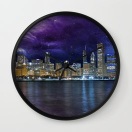 Spacey Chicago Skyline Wall Clock