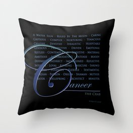 Sign Language for Cancer Throw Pillow