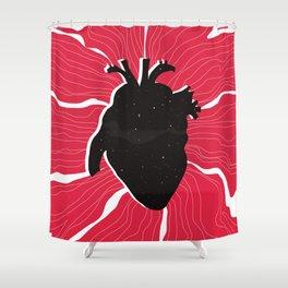 Heart full of stars Shower Curtain