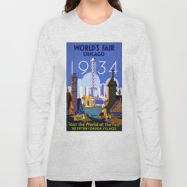 Vintage poster - Chicago Long Sleeve T-shirt